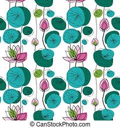 Lotus seamless pattern
