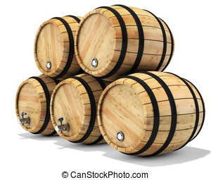 3d wine barrel stack