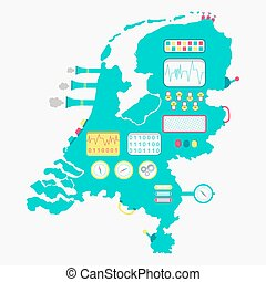Map of Netherlands machine - Map of Netherlands like a cute...