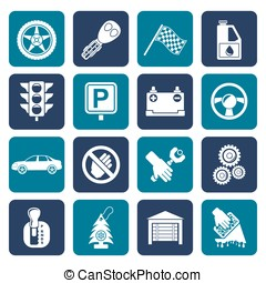 Flat Car and transportation icons