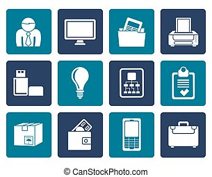 Flat Business and office icons - Flat Business and office...