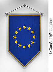 European Union Flag Pennant - Pennant with European Union...