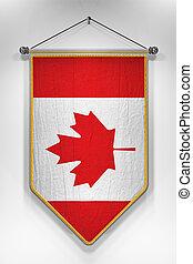 Canada Flag Pennant - Pennant with Canadian flag 3D...
