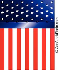 American Flag Banner - Brightly-colored American flag banner...
