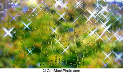 Raindrops on the  Window 1 shine