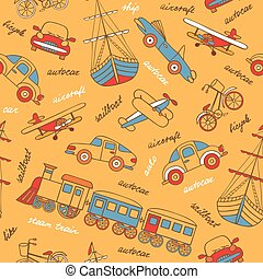 Vector pattern with retro transport.