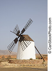 Traditional windmill in Fuerteventura, Canary Islands Spain