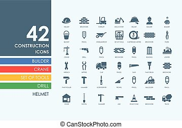 Set of construction icons - construction vector set of...