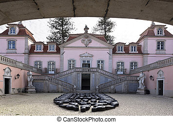 Entrance of the Palace of Oeiras - The baroque and rococo...