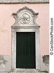 Palace of Oeiras - Door to the former guardhouse in the...