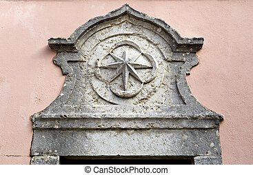 Palace of Oeiras - Detail of the star on top of the door to...