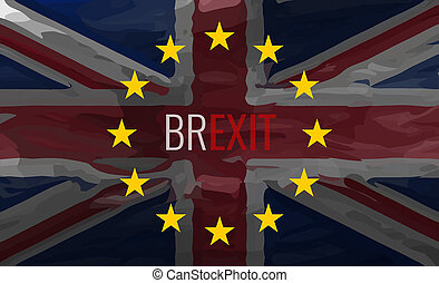 Brexit Flag Background Graphic Illustration Painted Design
