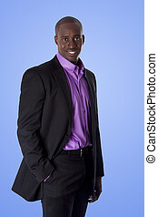 Happy African American business man - Handsome happy African...