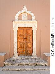 Door of old building in Hersonissos - Door of old building...