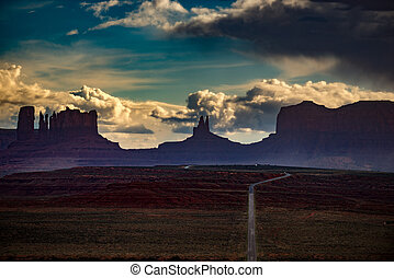 Monument Valley Forrest Gump Point - Mexican Hat Utah...