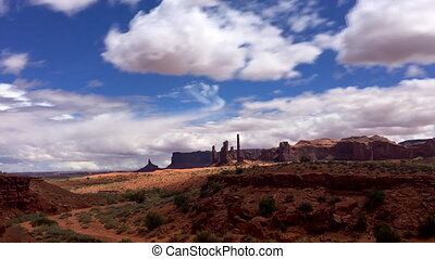 Totem Pole Monument Valley Time-lapse - Totem Pole pillar...
