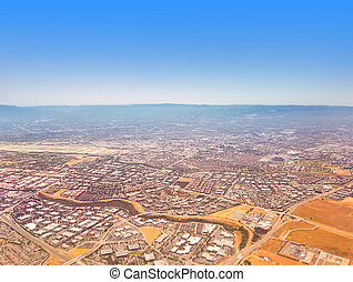 Silicon Valley - Aerial view on Silicon Valley with a slight...