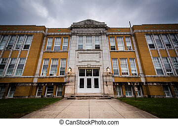 An old high school building in Hanover, Pennsylvania.