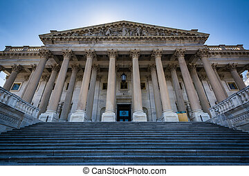 The United States House of Representatives Building at the...