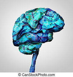 Brain Mapping - Brain mapping mental health concept and...