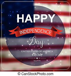 Independence day card design