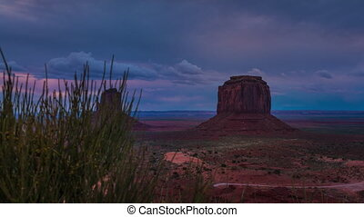 Monument Valley Cloudy Sunrise Hyperlapse Trucking -...