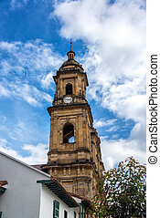 Bogota, Colombia Cathedral - View of the cathedral in...