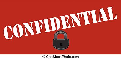 Confidental - Stamp with word confidential inside, vector...