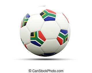 Flag of south africa on football