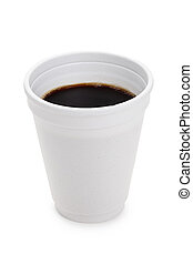 Disposable Cup with white background