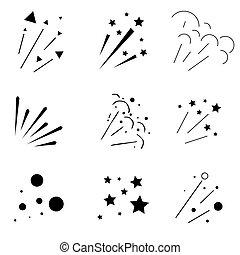 Set of Sparkles and Bursts. Minimal design. - Set of...