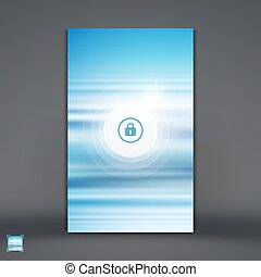 Modern Lock Screen for Mobile Apps Smartphone with Closed...