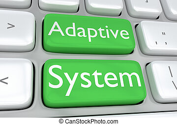 Adaptive System concept - 3D illustration of computer...