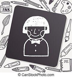doodle schoolgirl