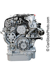 front view of heavy truck engine
