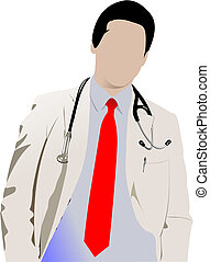 Medical doctor with stethoscope