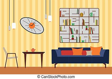 Furniture Set. Flat Vector Illustration for you Interior...