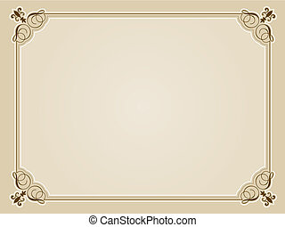 Blank certificate background - Decorative blank certificate...