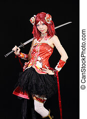 Young asian girl dressed cosplay - Young asian girl dressed...