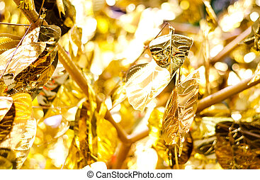 gold leaf texture background.
