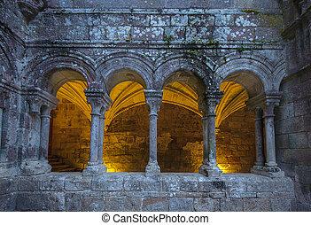 Monastery of Santo Estevo de Ribas de Sil in Galicia, Spain