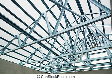 Structure of steel roof. - Structure of steel roof frame for...