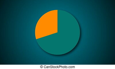 Circle diagram for presentation, Pie chart