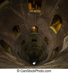 Pozzo di San Patriazio, a historic well in Orvieto, Umbria,...