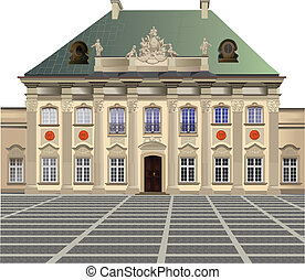 Pod Blacha Palace - Vector color illustration of Pod Blacha...