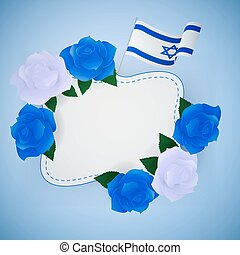 Jewish israel background with roses. - Jewish israel...