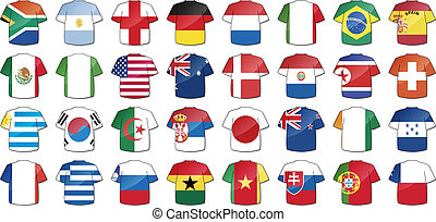 national flags - uniforms of national flags participating in...