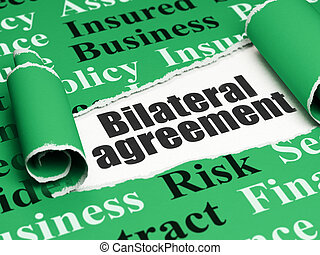 Insurance concept: black text Bilateral Agreement under the...