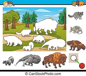 educational activity for children - Cartoon Illustration of...