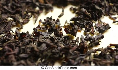 Pile of black tea, macro video clip
